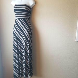 Banana Republic Strapless Black/Brown Maxi dress,M